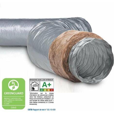 Gaine PVC souple ecosoft isolée 25mm diam.125mm type TH NATHER 549244