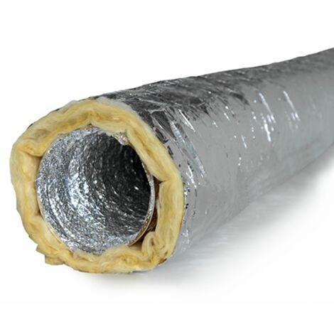 Gaine souple isolée, diamètre 125, longueur 5m