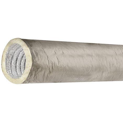 Gaine souple isolée thermique et phonique - Longueur 5 Mètres - Diamètre intérieur 80 mm