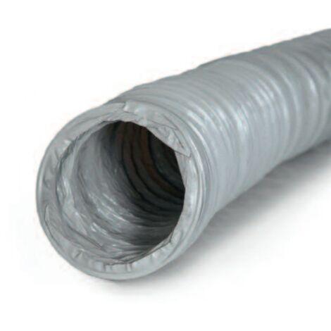 Gaine souple PVC gris pour ventilation, diamètre 150mm, longueur 6m