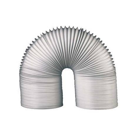 Gaine souple PVC gris ventilation D.80mm compacter en 20m