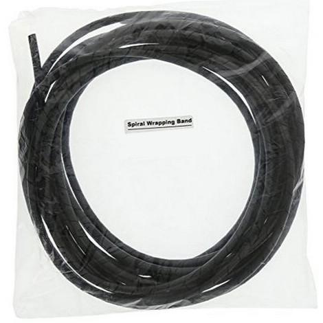 gaine spirale cache cable diam 10 m noir 15510. Black Bedroom Furniture Sets. Home Design Ideas