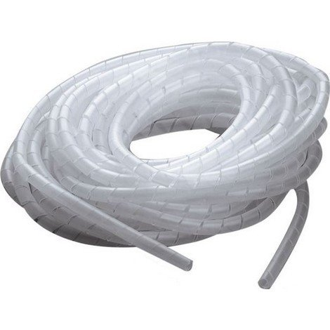 gaine spirale diam 6 mm cache cable 10 m transparent 15507. Black Bedroom Furniture Sets. Home Design Ideas