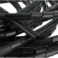 Gaine spiralée de 4 faisceaux de 4 à 50 mm NOIRE