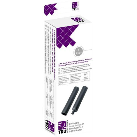 Gaine thermorétractable avec colle TRU COMPONENTS T1904CA049 noir 44.40 mm Taux de retreint:6:1 1 pc(s)