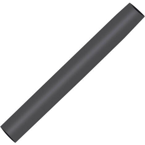 Gaine Thermorétractable Noire avec Rétraction 3:1 80mm 1 mètre Noir - Noir