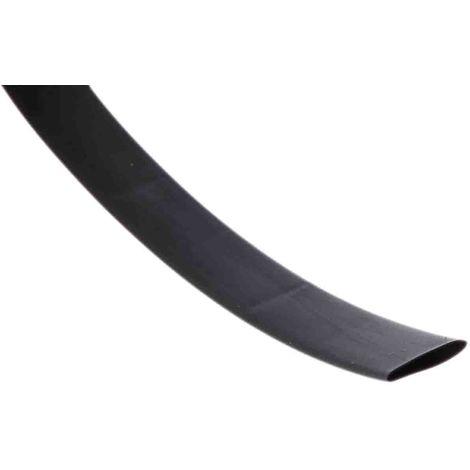 Gaine thermorétractable RS PRO, Dia. 19,1mm Noir rétreint 2:1, 1,2m