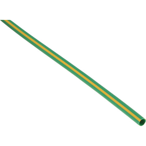 Gaine thermorétractable RS PRO, Dia. 3,2mm Vert/Jaune rétreint 2:1, 1,2m