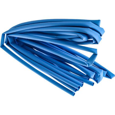 Gaine thermorétractable RS PRO, Dia. 4,8mm Bleu rétreint 2:1, 1,2m