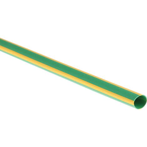Gaine thermorétractable RS PRO, Dia. 6,4mm Vert/Jaune rétreint 2:1, 1,2m