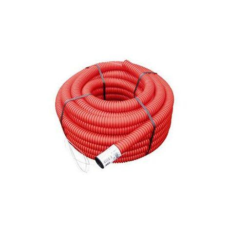 Gaine TPC rouge Ø 40 mm x 25 mètres