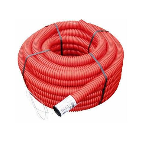 Gaine TPC rouge Ø 40 mm x 25 mètres Electricité - Rouge
