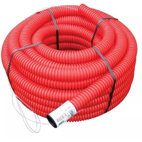 Gaine TPC rouge Ø 63 mm x 25 mètres