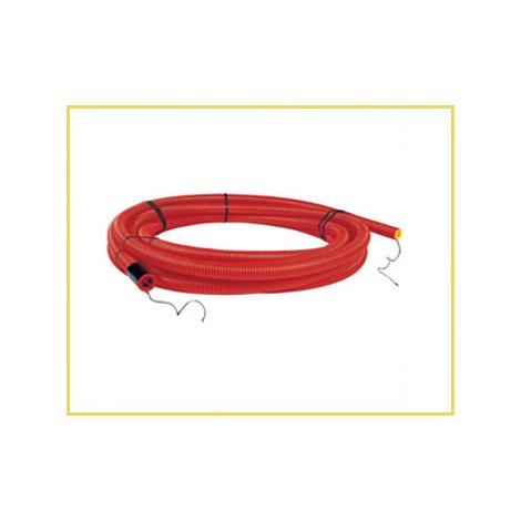 """main image of """"Gaine TPC annelée rouge ou noire - Diamètre : 90 mm - Rouleau de 25 m"""""""
