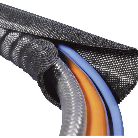 Gaine tressée HellermannTyton Twist-In 19 170-01014 noir polyester 16 à 19 mm 2 m Q007221