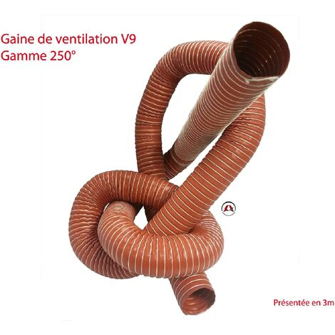 Gaine ventilation V9 Gamme 250 Degres - Diametre 60 - Au metre
