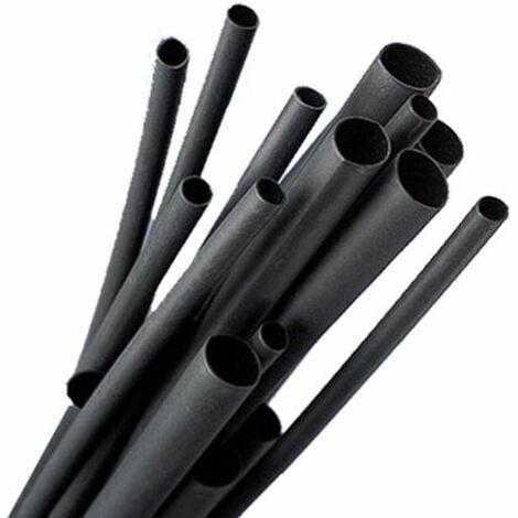 Gaines PVC Flexibles diamètre 8mm résistant à l'huile et ignifuge Noir