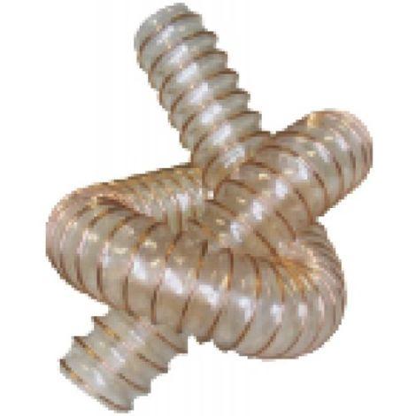 Gaines souples WINDFLEX 400 en polyuréthane-ester armé avec un fil cuivré, ventilation, aspiration, Ø int : 51mm L: 10m