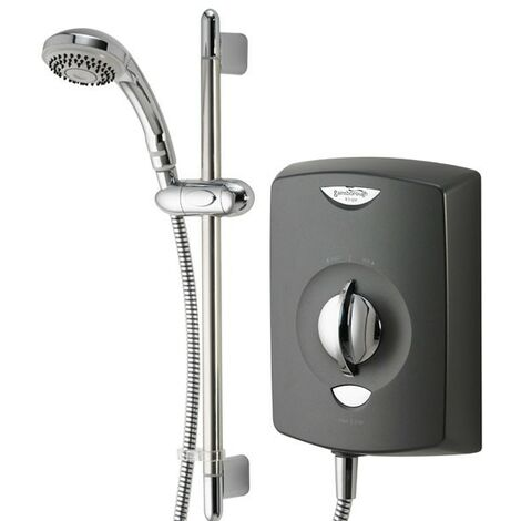 Gainsborough SE Black Graphite 9.5se Electric Shower 9.5kw + Chrome Riser Kit