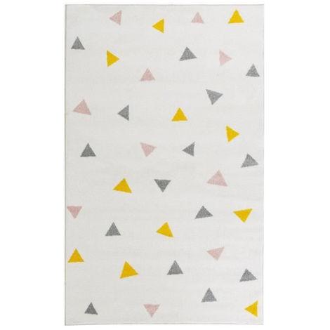 GALA Tapis de salon en polypropylene - 160 x 230 cm - Multicolore - Motif Triangulaire
