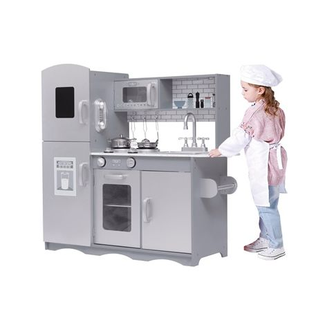 GALACTICA Wooden Pretend Play Kitchen WW-PK-04 Grey