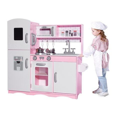 GALACTICA Wooden Pretend Play Kitchen WW-PK-04 Pink