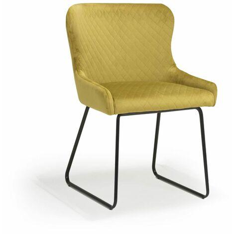 Galaway Brushed Velvet Mustard Chair