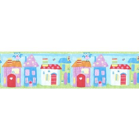 Galerie Children's Town Houses Wallpaper Border