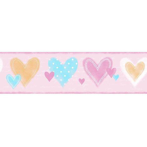 Galerie Hearts Pink Wallpaper Border