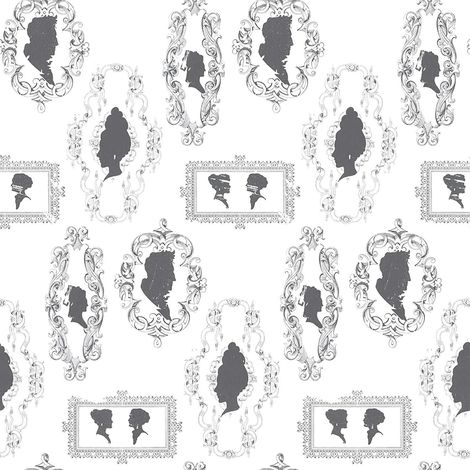 Galerie Silhouettes Black/ White Wallpaper