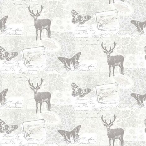 Galerie Stag Butterfly Retro Wallpaper Smooth Finish Floral Design