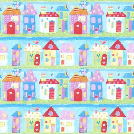 Galerie Town Houses Children's Wallpaper