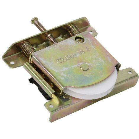 """main image of """"Galet de roulement de porte coulissante de placard - Charge par vantail : 100 kg - Version : Roulette avec rainure - Galet : Ø 60 - MECALDE - Vendu à l'unité"""""""