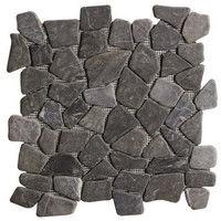 Galet Marbre noir - 30 x 30 cm