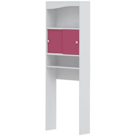 GALET Meuble WC ou machine a laver 64 cm - Rose fuchsia - 6090A2136A17