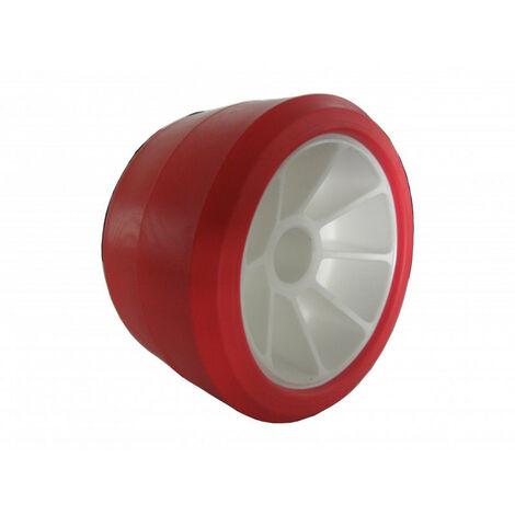 Galet rouge 120x75 alésage 21 mm