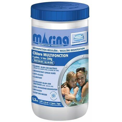 Galets 200g de chlore Marina pour piscine > 25m3 - 1,2 kg