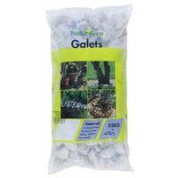 Galets blancs de carrare 40/60 sac de 25 kg