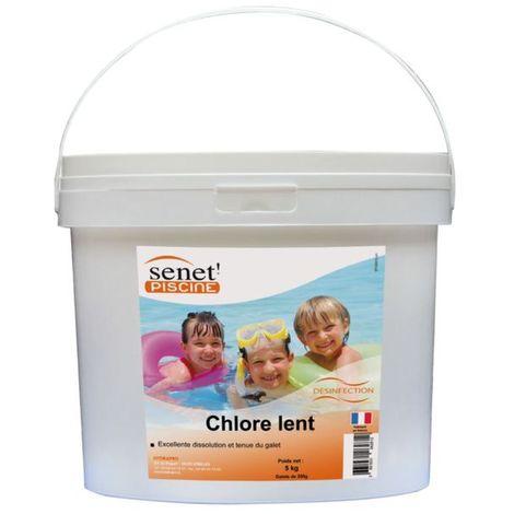 Galets de chlore lent 250 g - 5 kg - Blanc
