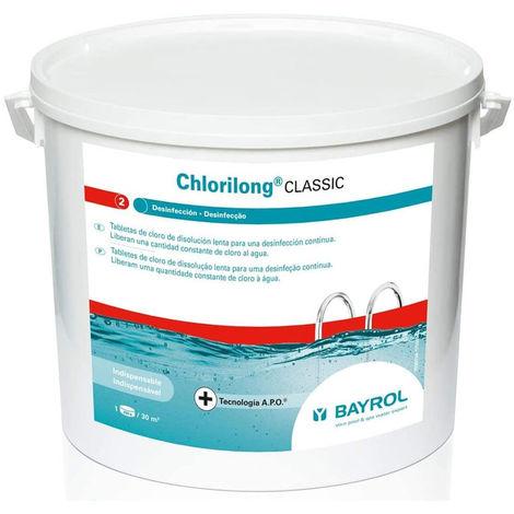 Galets de chlore lent CHLORILONG 250g Bayrol seau de 5kg