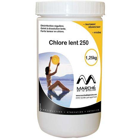 Galets de chlore lent Marchedelapiscine 250g pot 1,25kg