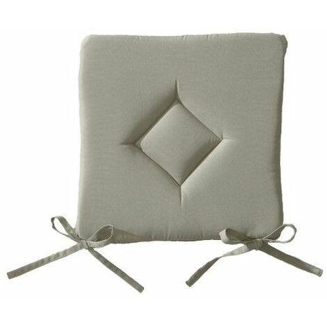 Galette de chaise 40 x 40 cm - Beige mastic - Livraison gratuite