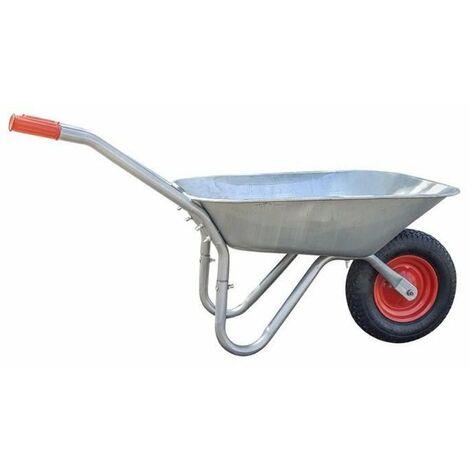 GALICO Brouette Practo Garden Capacité : 85 l - Charge max : 100 kg - Roue pneumatique