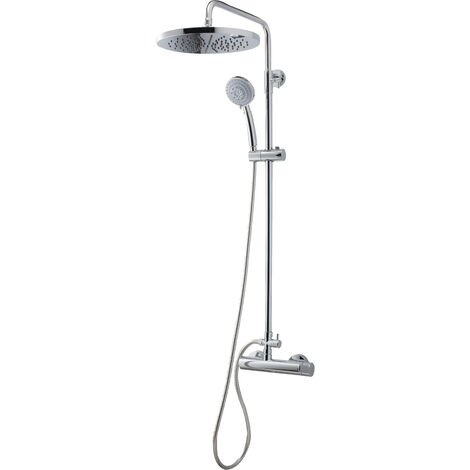 Galindo KARIM DUE 88950300 Colonne mitigeur douche (laiton) avec ensemble de douche, finition chrome. - Chrome