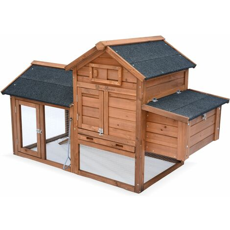 GALINETTE wooden chicken coop, hen house measuring 151x69.50x92.50cm