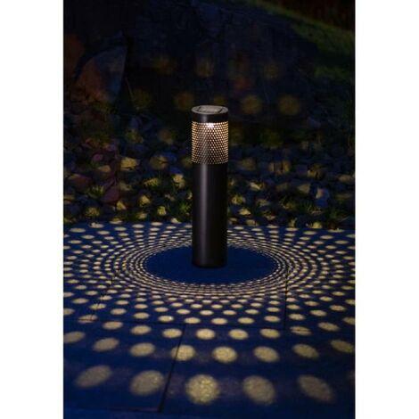 GALIX Borne a énergie solaire cylindrique - 10 Lm - H 53.5-38.5 x Ø 8.7 cm