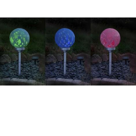 GALIX Boule a énergie solaire rotative - 7 Lm - Hauteur ajustable - Ø 25 cm