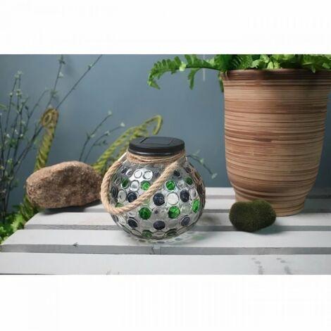 GALIX Décoration de table a énergie solaire - Effet 3D - Vert