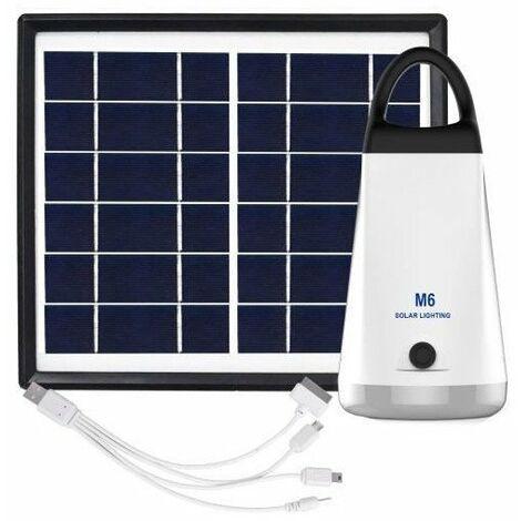 GALIX Kit d'éclairage a énergie solaire - Lampe H 15,5 x Ø 70 mm