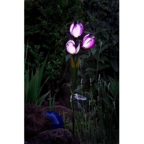 GALIX Tulipe a énergie solaire - 9 Lm - H 85.5-75.5 x 18 x 13 cm